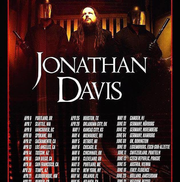 Jonathan Davis to Embark on North American Headline Tour