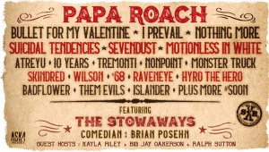 Shiprocked 2019 Lineup featuring Papa Roach, Bullet For My Valentine, Motionless in White, Nothing More...