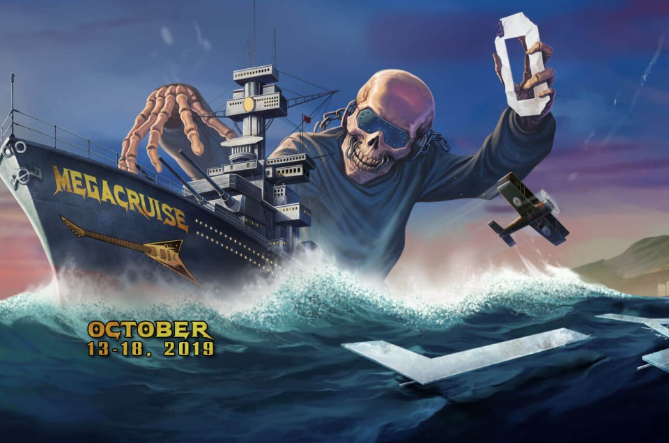 Metal music cruise 'MegaCruise' announced for October 2019.