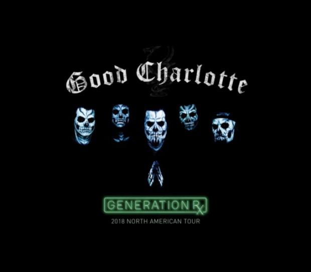 Good Charlotte North American 2018 tour Generation Rx
