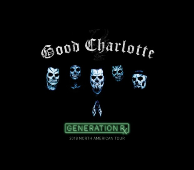 Good Charlotte North American 2018 tour Generation Rx