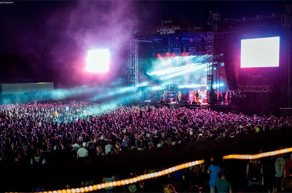 Sold out crowd during Godsmack's performance at Carolina Rebellion 2015.