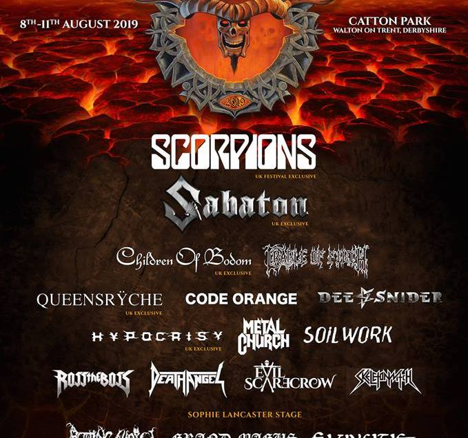 Bloodstock Open Air festival 2019 initial lineup.