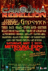 First ever Carolina Rebellion 2011 lineup.