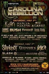 Carolina Rebellion celebrates 5th anniversary in 2015 + lineup announced.