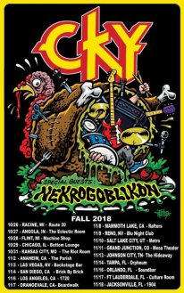 CKY announce fall 2018 tour with Nekrogoblikon.