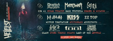 Hellfest Open Air 2019 lineup announced featuring Manowar, Kiss and Tool.