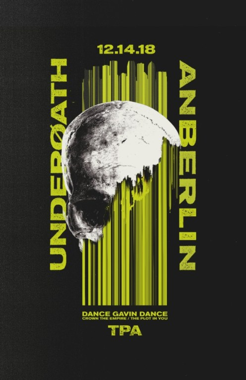 """Underoath announce special guest Anberlin to perform at final date of """"Erase Me"""" tour in December."""