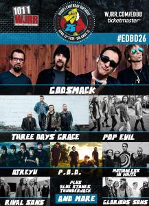 The lineup has been revealed for WJRR's Earthday Birthday festival in Orlando.
