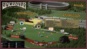 Festival map for Epicenter 2019 in Rockingham, NC.