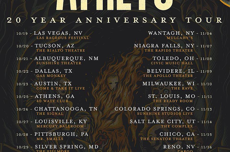 Atreyu to celebrate '20 Year Anniversary Tour' in fall 2019.