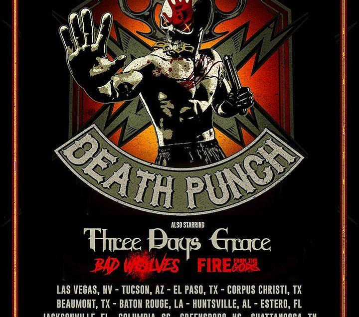 Five Finger Death Punch announces fall 2019 tour with Three Days Grace, Bad Wolves and Fire From the Gods.