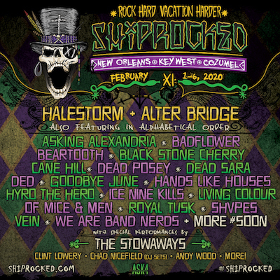 ShipRocked 2020 Lineup Poster
