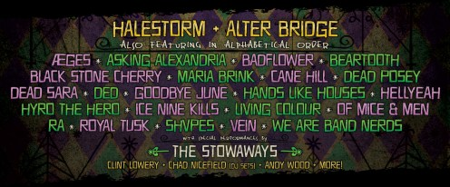 Lineup announced for ShipRocked 2020 featuring Halestorm and Alter Bridge as headliners.