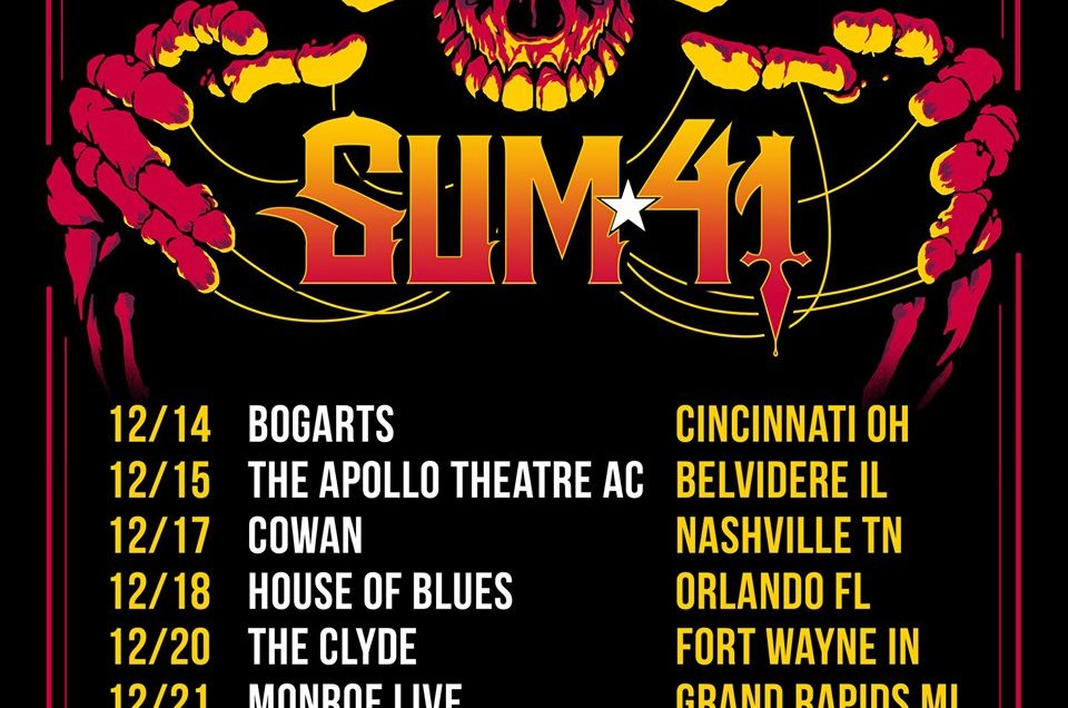WJRR and House of Blues Orlando announce Blizzard of Rock, featuring Sum 41.