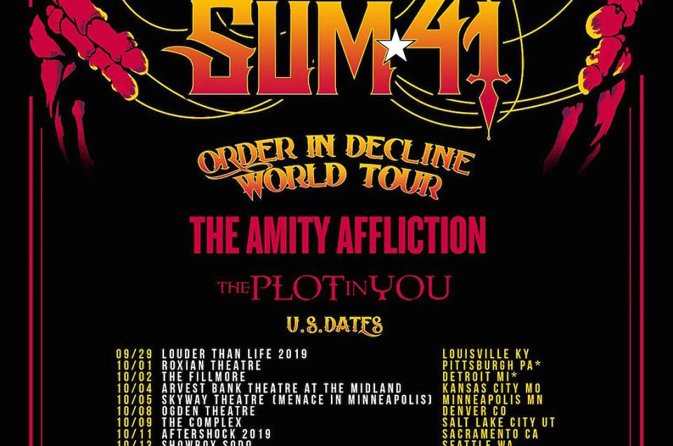 Sum 41 announce 'Order In Decline World Tour' for Fall 2019