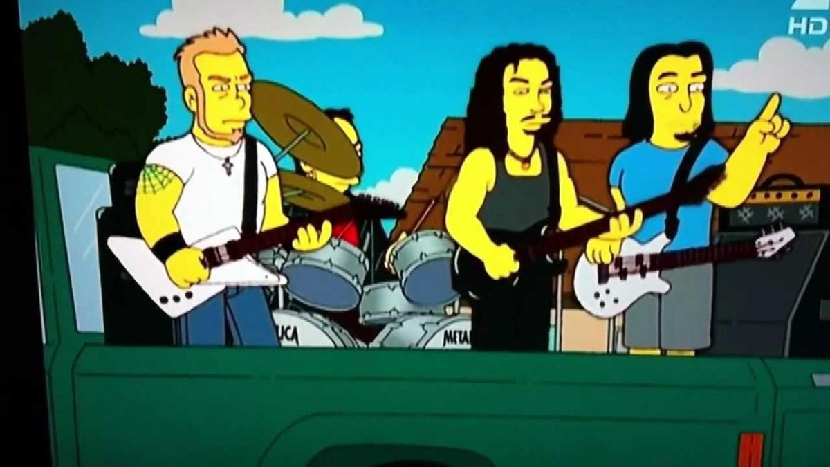 metallica.jpg  As Principais Participações de Bandas e Artistas nos Simpsons metallica