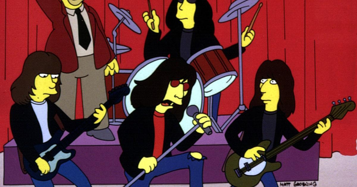 ramones.jpg  As Principais Participações de Bandas e Artistas nos Simpsons ramones