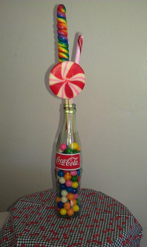 coke bottle centerpiece  Rockabelle Bombshell