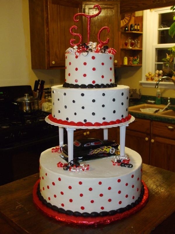 Rockabilly Cake Topper Rockabelle Bombshell