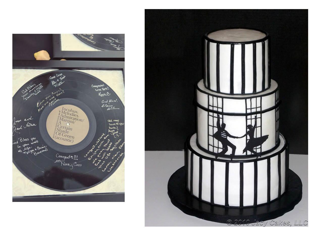 polka dot rockabilly wedding cake  Rockabelle Bombshell
