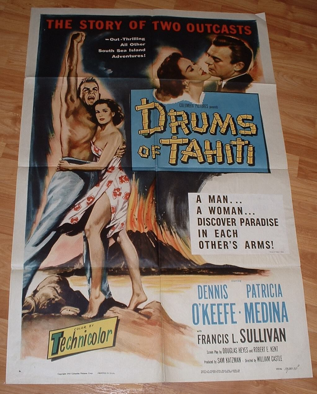 drums of tahiti 3d 1 sheet