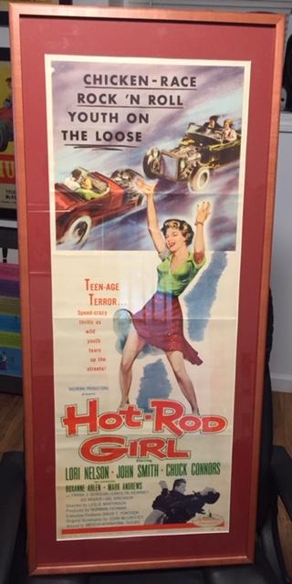 hot rod girl framed