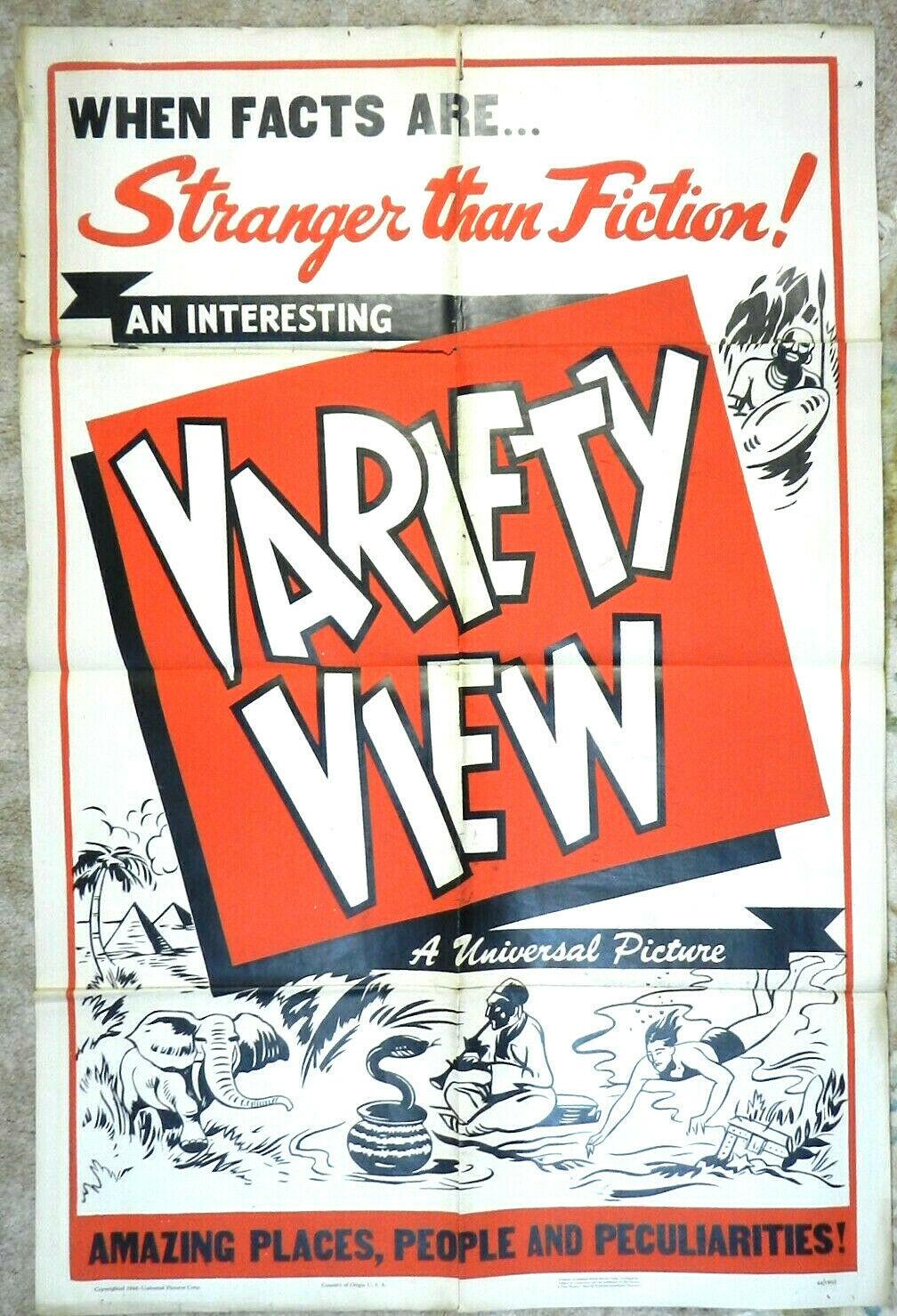 universal variety view 1 sheet