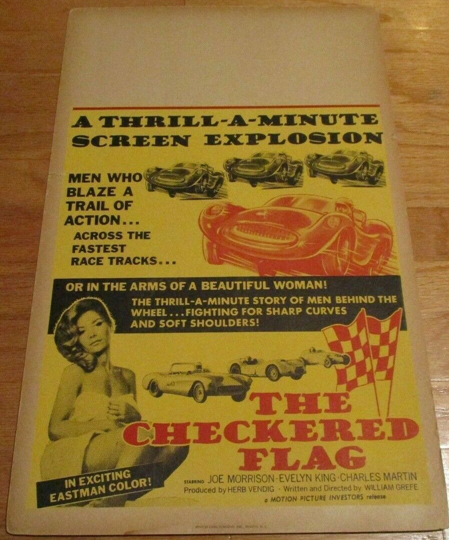 checkered flag window card