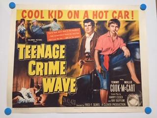 teenage crime wave half sheet