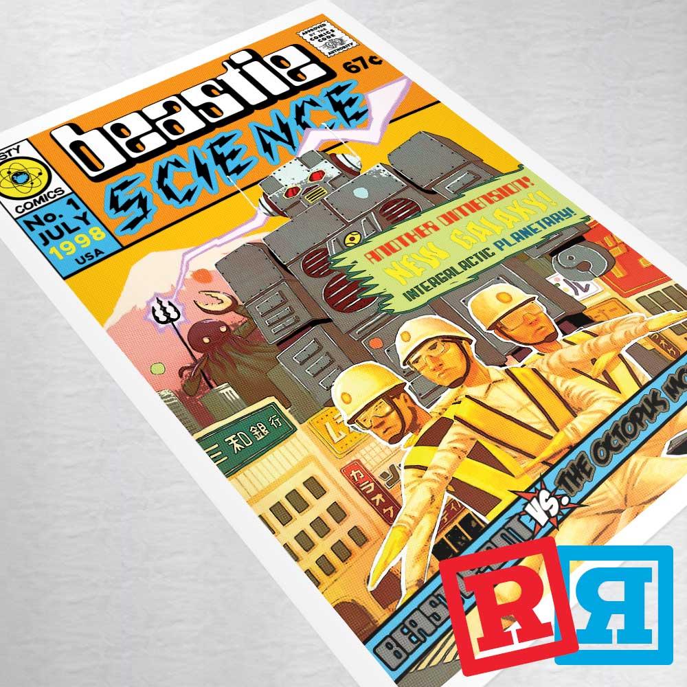 beastie boys intergalactic comic book art print poster