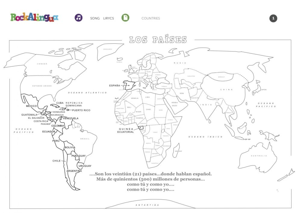 medium resolution of Spanish Speaking Countries Worksheet - Promotiontablecovers