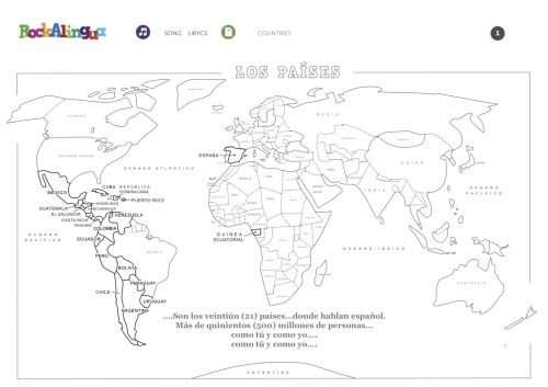 small resolution of Spanish Speaking Countries Worksheet - Promotiontablecovers