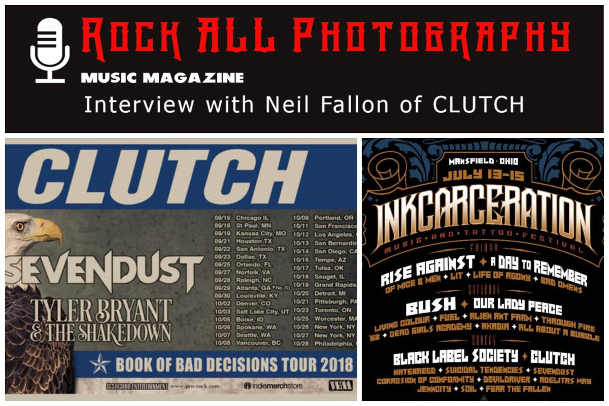 Interview with Neil Fallon - Lead Singer of Clutch! See Clutch perform at INKCARCERATION FESTIVAL July 15 in Mansfield, OH!