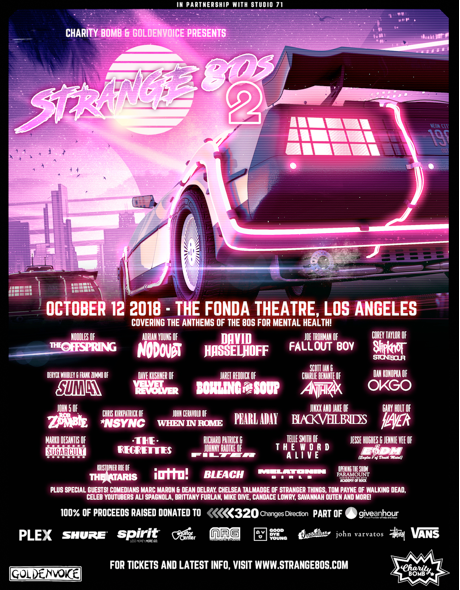 This Friday: Charity Bomb's Strange 80s 2 at The Fonda Theatre || Featuring David Hasselhoff, Brittany Furlan, Marc Maron, & more!