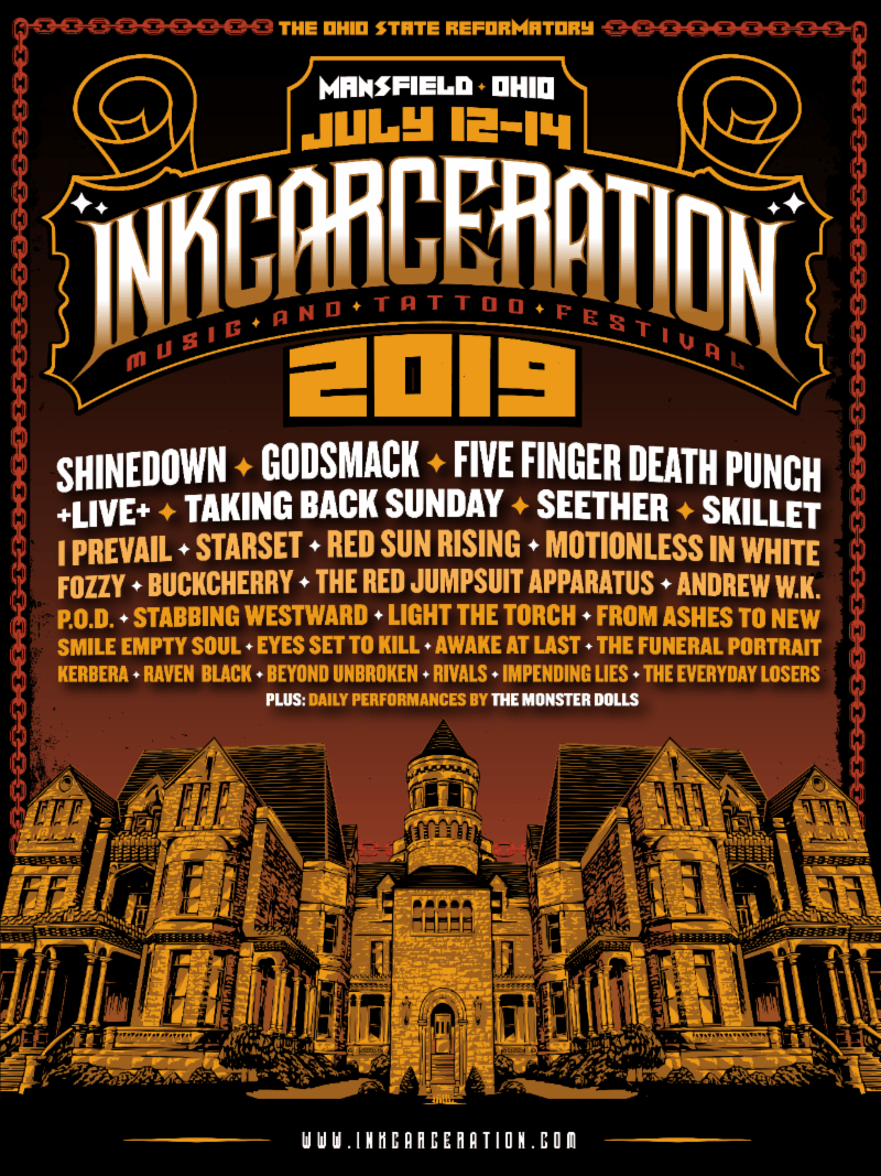 INKCARCERATION Music and Tattoo Festival Announces Massive 3-Day Line Up!!!