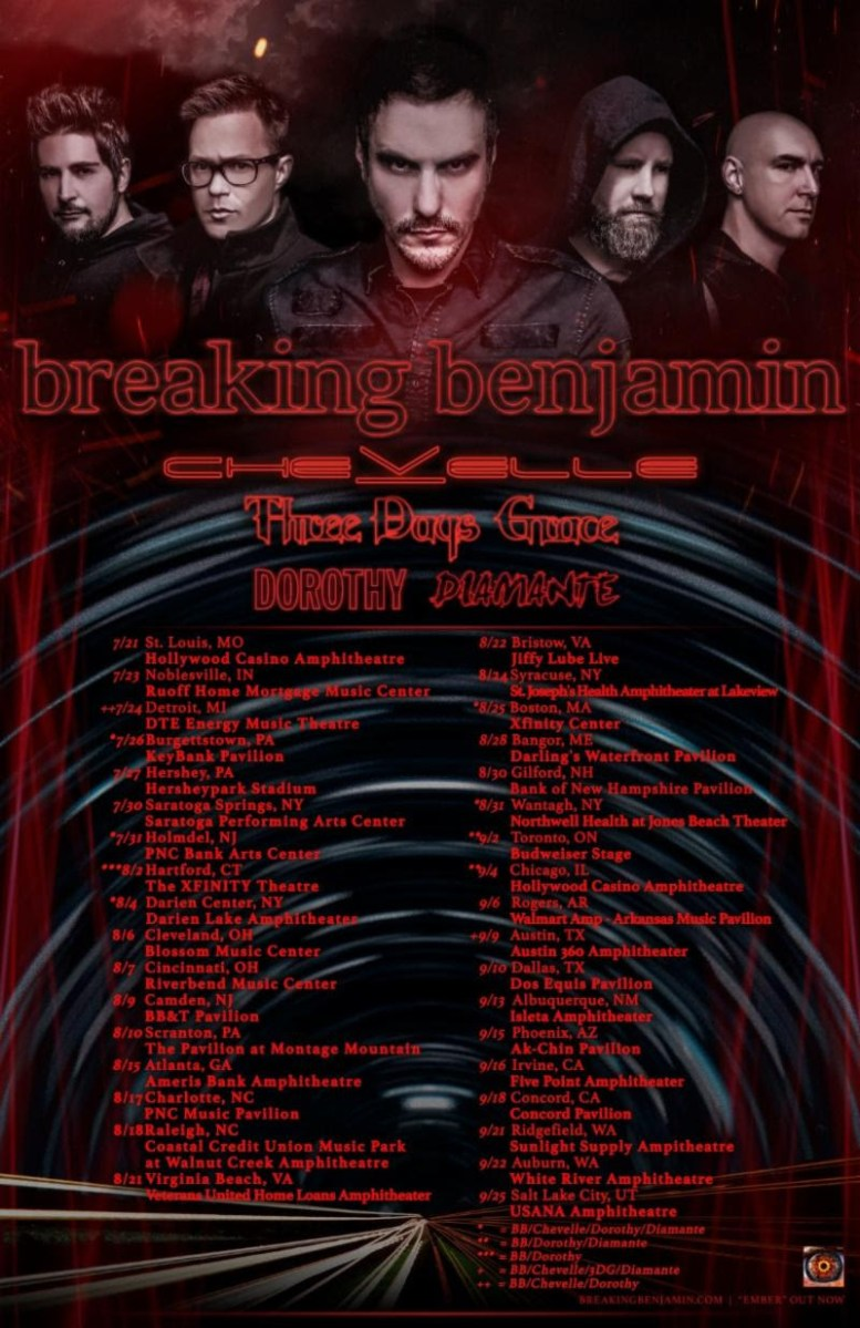 CHEVELLE Joins Headliner BREAKING BENJAMIN on North American Summer Amphitheater Tour