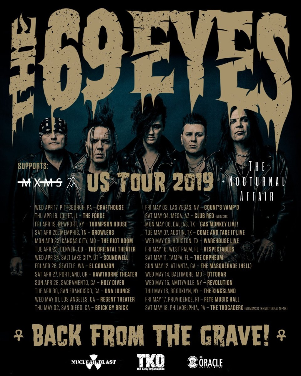 THE 69 EYES announce first U.S. tour in a decade
