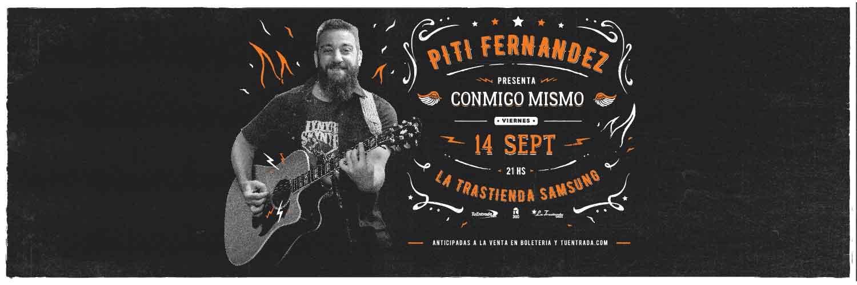 Piti Fernández presentando 'Conmigo Mismo'