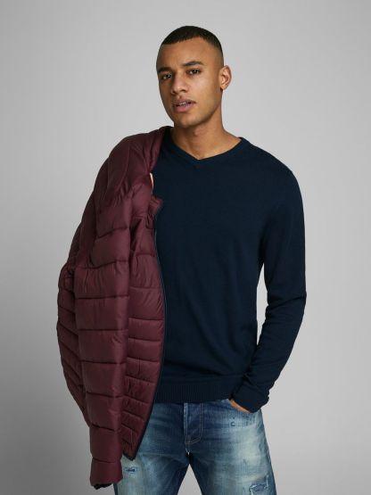 jersey de cuello pico