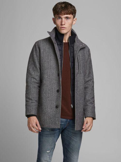 abrigo de lana dual