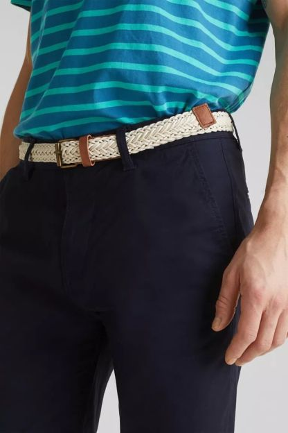 bermudas chino con cinturon