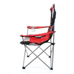 Lightweight Folding Chairs Hiking Desk Chair Throw Marko Outdoor Red & Grey Heavy Duty Deluxe Padded Steel Camping Festival Directors ...