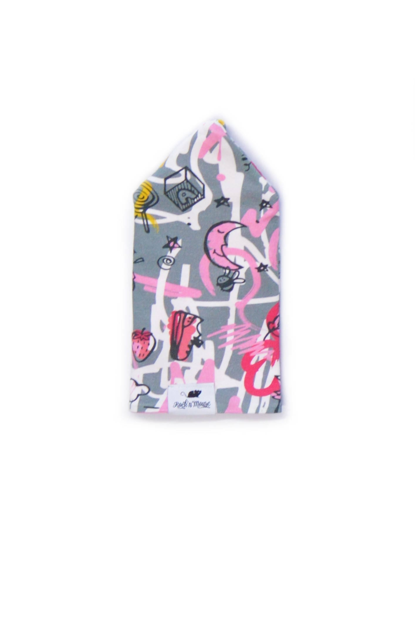 Reversable pink expressions beanie for kids, toddlers, baby, girl