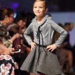 Monkeys shirt with tulle collar detail and wool blend skirt for girl, toddler, kid
