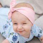 Pink knot headband for kids, baby girls