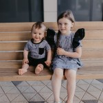 Happy monkeys dress with leather look wings for kids, baby, girl, toddler and unisex T-shirt