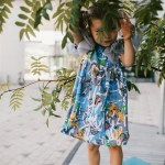 Blue expressions tulle wing dress for kid, baby, girl, toddler