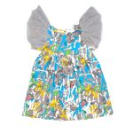 Blue expressions tulle wing dress for kid, girl, baby, toddler