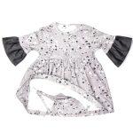 Monochrome baby bodysuit dress for girls, kids